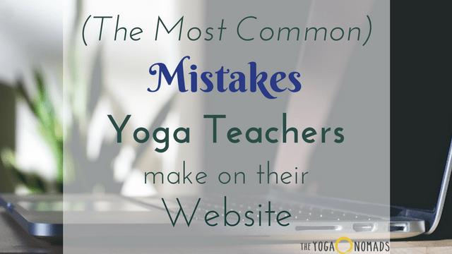 Yoga Website Mistakes