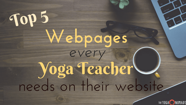 Webpages for yoga teachers