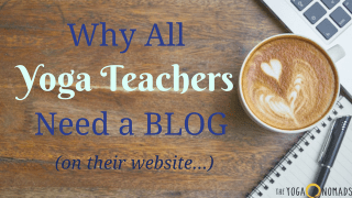 yoga teacher blog