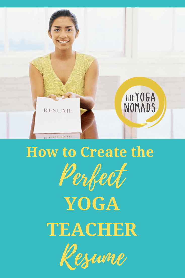 how to create the perfect yoga teacher resume