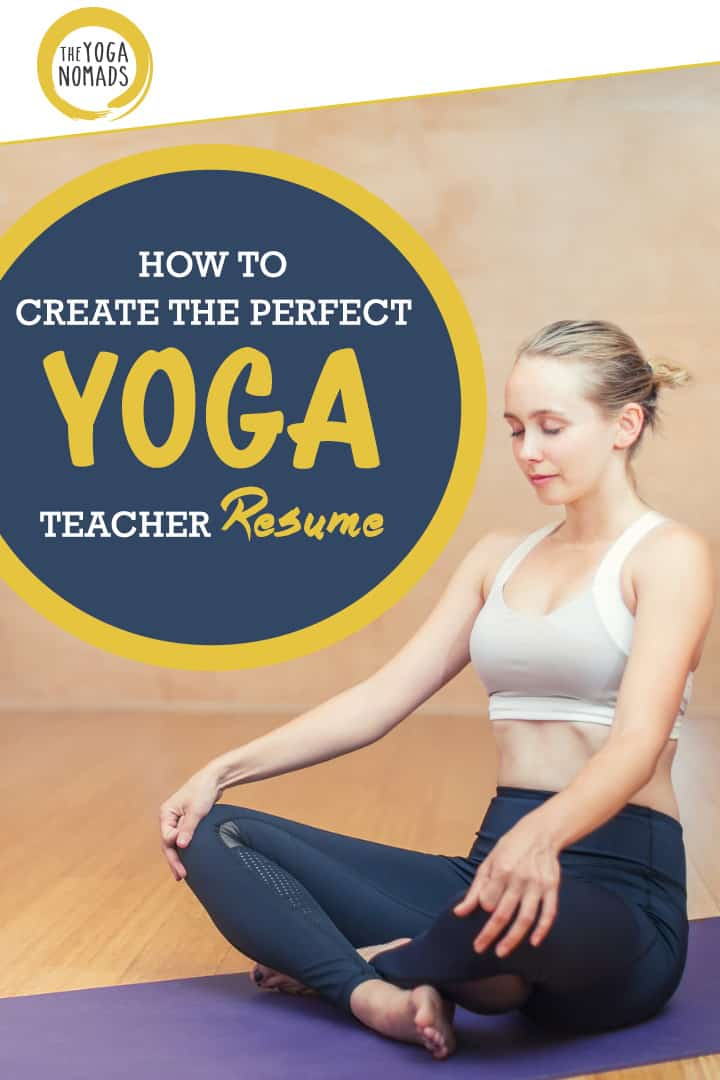Yoga resume tips
