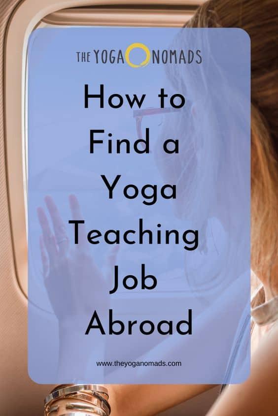 How to Find a Yoga Teaching Job Abroad TYN