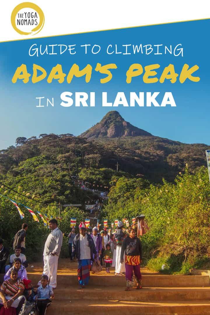 Sri Lanka Adams pointe les pointes
