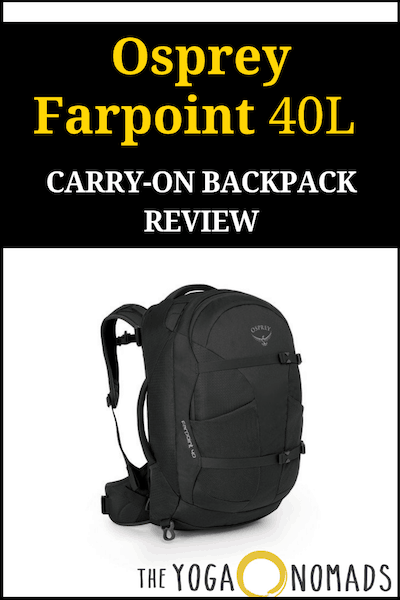 Osprey Farpoint 40 Review  Best Carry on travel backpack - The Yoga ... 7078d5bc9301f