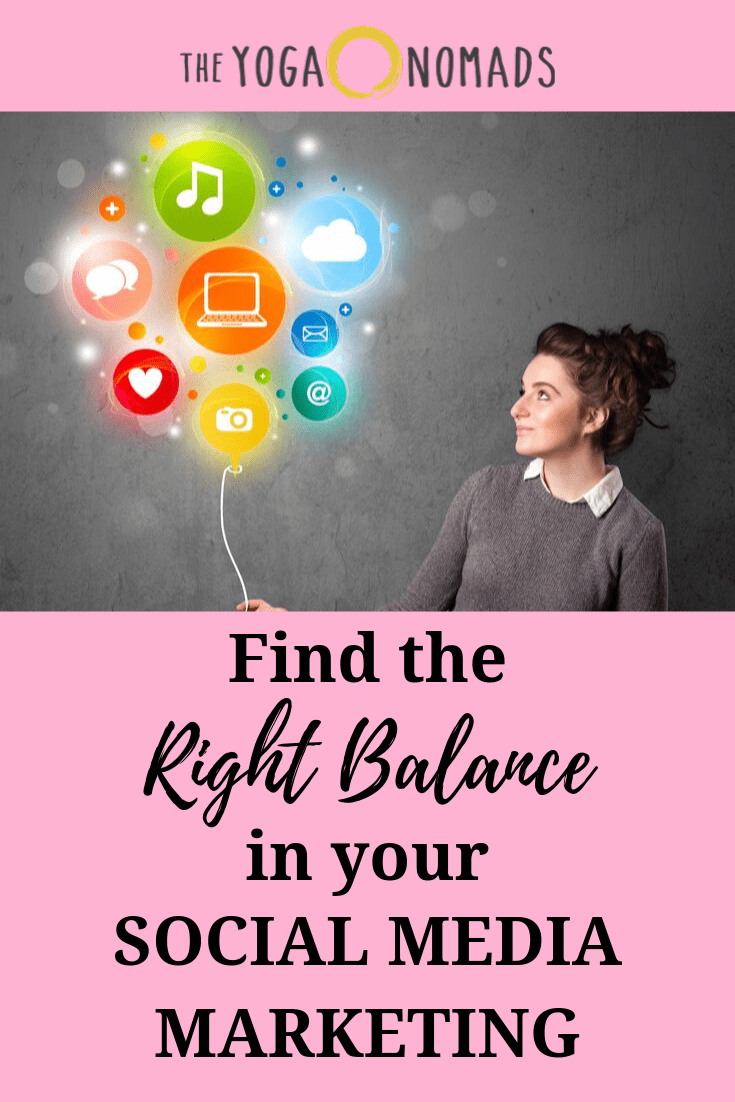 Find the Right Balance in your Social Media Marketing