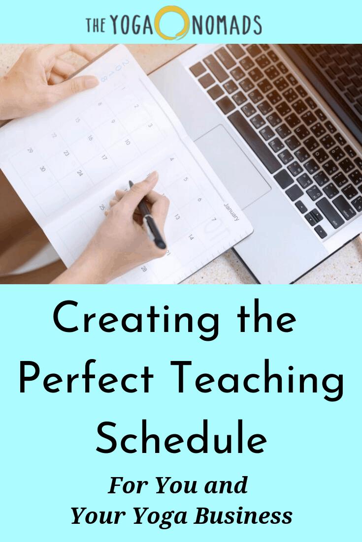 Creating Perfect Yoga Teaching Schedule
