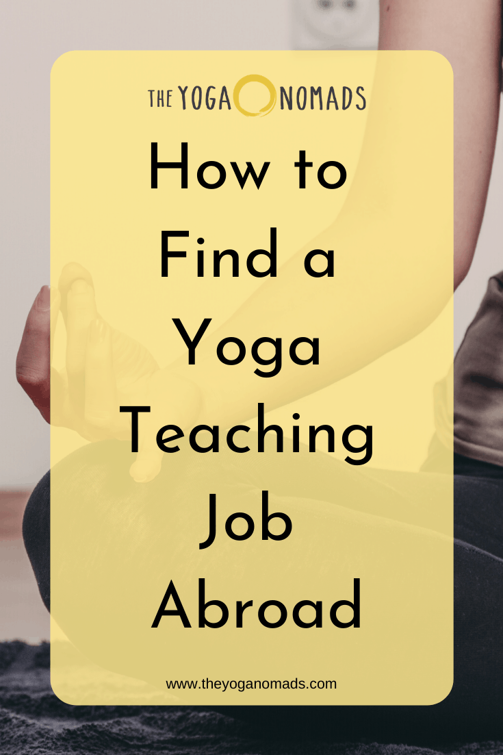How to Find Yoga Teaching Job Abroad