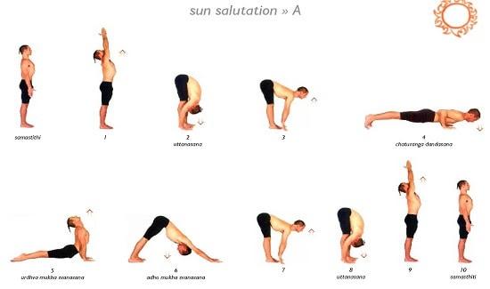 sun salutation a surya namaskar a